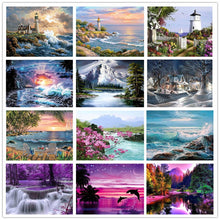 Load image into Gallery viewer, 5D DIY Landscapes Diamond Paintings