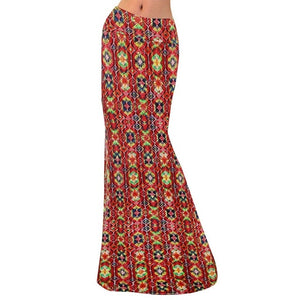 Womens Fashion Diamond Printed Long Maxi Skirt
