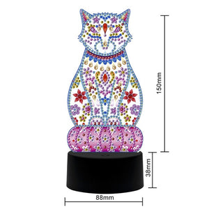 New Design - 7 Colours LED 5D Diamond Painting Table Lamps