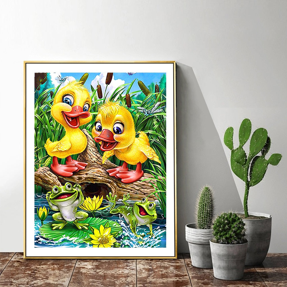 5D DIY Ducklings Diamond Paintings