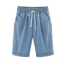 Load image into Gallery viewer, Oversized Womens Summer Cotton Linen Casual Shorts