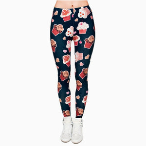 Womens Fashion Printed Leggings - One Size