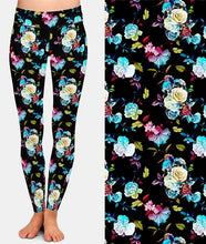 Load image into Gallery viewer, Ladies Assorted Floral Printed Brushed Leggings