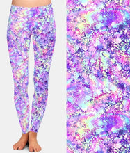 Load image into Gallery viewer, Ladies Luminous Glitter Printed Brushed Leggings