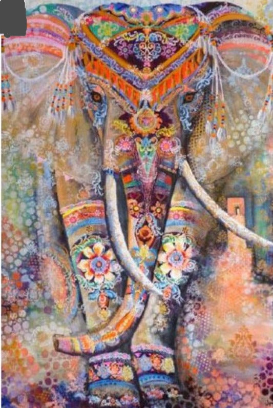 5D DIY Colourful Elephant Diamond Painting