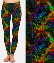Load image into Gallery viewer, Ladies Gorgeous Bright Coloured Galaxy Printed Leggings