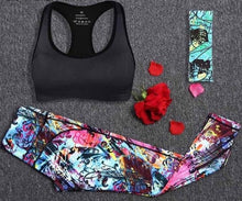 Load image into Gallery viewer, Womens 2-Piece Fitness Workout Set