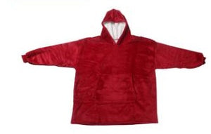 Adults Sherpa Fleece Microfiber Hoodie With Pocket - 4 Colours