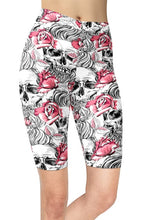 Load image into Gallery viewer, Assorted Womens Sugar Skull Printed Bike Shorts