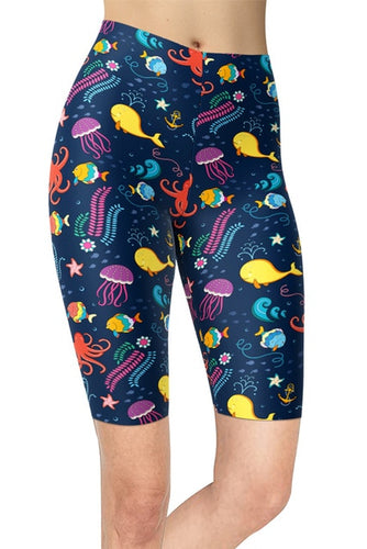 Ladies New Marine Life Under The Sea Summer Shorts