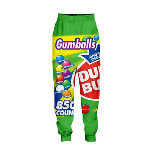 Mens SWEET 3D Candy Snacks & Cereals Novelty Printed Pants