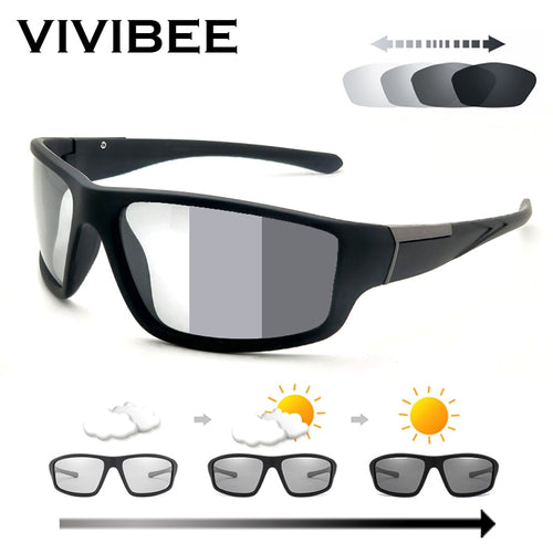 NEW Photochromic Sunglasses - Matte Black Sports, Colour Changing Sunglasses