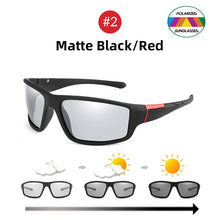 Load image into Gallery viewer, NEW Photochromic Sunglasses - Matte Black Sports, Colour Changing Sunglasses