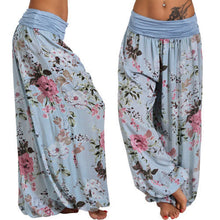Load image into Gallery viewer, Ladies Plus Size Floral Roomy Harem Pants