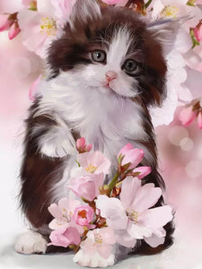 5D DIY Gorgeous Cat Design Diamond Painting