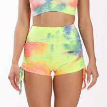Load image into Gallery viewer, Ladies Colourful Tie-Dye Push Up Anti Cellulite Fitness Leggings & Shorts