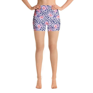 Ladies Summer Floral Leopard Printed Shorts