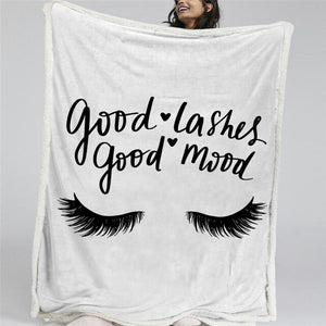 Gorgeous Lash Out Reversible Sherpa Blanket