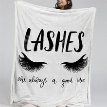 Load image into Gallery viewer, Gorgeous Lash Out Reversible Sherpa Blanket