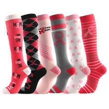 Load image into Gallery viewer, Multi-Coloured Womens Long Thigh Compression Socks