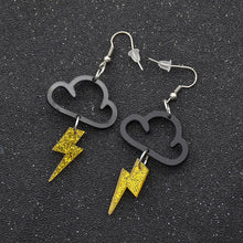 Load image into Gallery viewer, Fashion Acrylic Cloud/Lightning Earrings