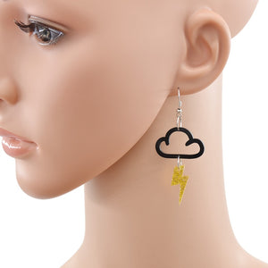 Fashion Acrylic Cloud/Lightning Earrings