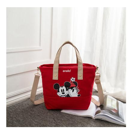 Mickey & Minnie Canvas Crossbody Shoulder Bags
