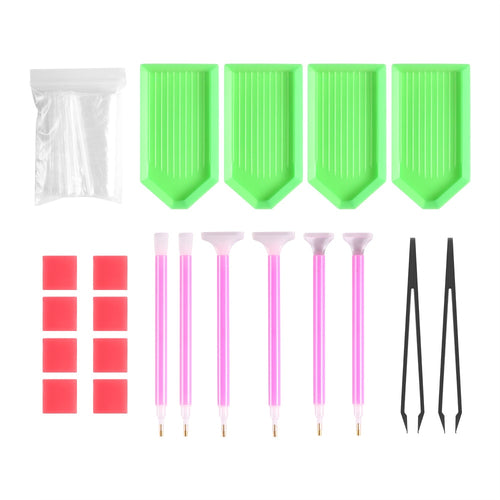 DIY 5D Diamond Painting Accessories - Pens, Tools, Glue Kit