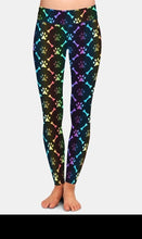 Load image into Gallery viewer, Ladies Super Soft Printed Paw Footprints & Bones Design Leggings