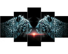 Load image into Gallery viewer, 5pcs 5D DIY Black Leopard Diamond Paintings