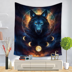 Background Assorted Wolf Wall Hangings - Tapestry Home Decor