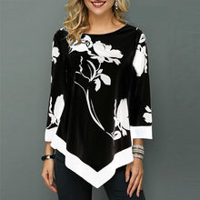 Load image into Gallery viewer, Womens Printed O-Neck Tunic Blouses