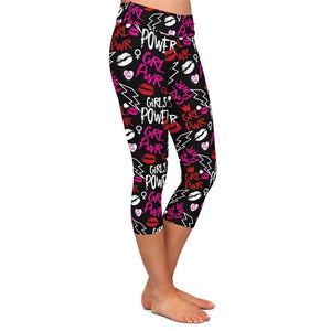 Womens Girl Power Brushed Capri Leggings