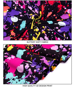Ladies Assorted Paint Splatter Printed Shorts