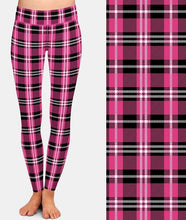 Load image into Gallery viewer, Ladies Assorted Plaid Printed Leggings