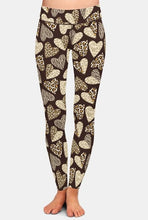 Load image into Gallery viewer, Ladies Leopard Hearts Printed Leggings