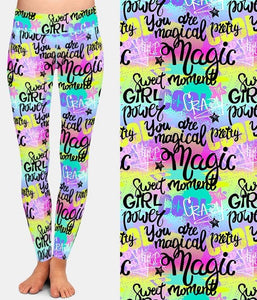 Ladies New Fashion Style Graffiti Printed Leggings