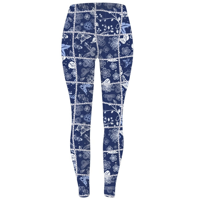 Womens Assorted Styles & Designs Printed Soft Brushed Leggings