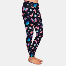 Load image into Gallery viewer, Ladies Colourful 3D Butterflies Printed Leggings