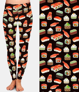 Ladies 3D Sushi Printed Leggings
