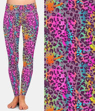Load image into Gallery viewer, Ladies Soft Colourful Animal Printed Leggings