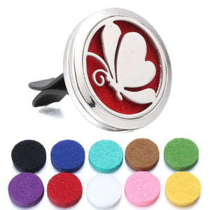 Variety Of Styles Aromatherapy Car Diffusers + 10pcs Pad