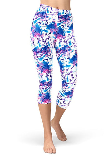 Womens Assorted Printed Buttery Soft Capri Leggings