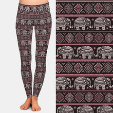Load image into Gallery viewer, Ladies High Waist Fashion Cute Elephant Printed Leggings