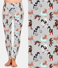 Load image into Gallery viewer, Ladies Fashion Cartoon Funny Horses Printed Leggings