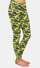 Load image into Gallery viewer, Womens 3D Yellow Camouflage Printed Leggings