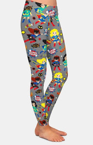Womens 3D Super Hero Printed Leggings