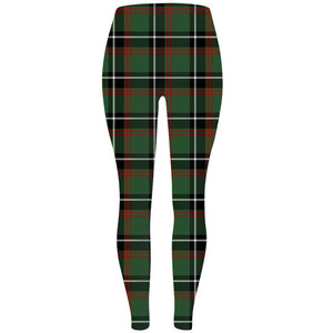 Womens Ultra Soft Checked Printed Leggings