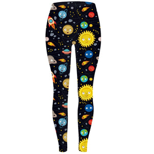 Ladies Starry Skys Assorted Printed Leggings
