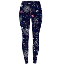 Load image into Gallery viewer, Ladies Starry Skys Assorted Printed Leggings